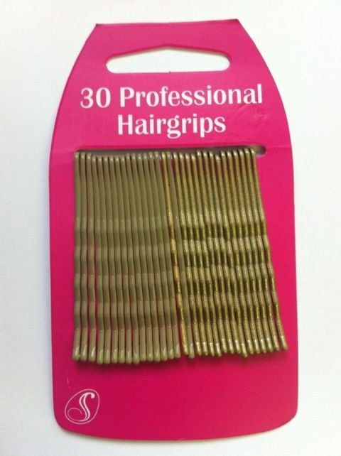30 Professional Kirby Hair Grips (6cm) Blonde